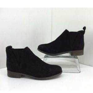 Steve Madden Robberr Black Leather Ankle Boots
